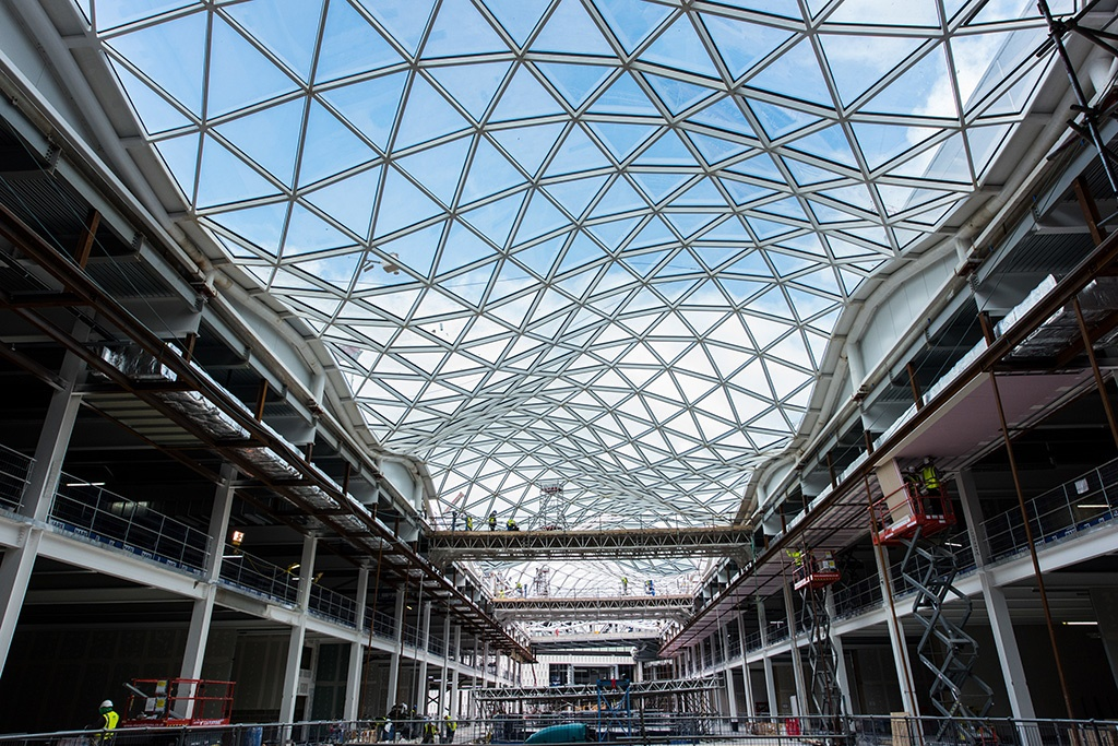 Westfield Shopping centre recoated roof
