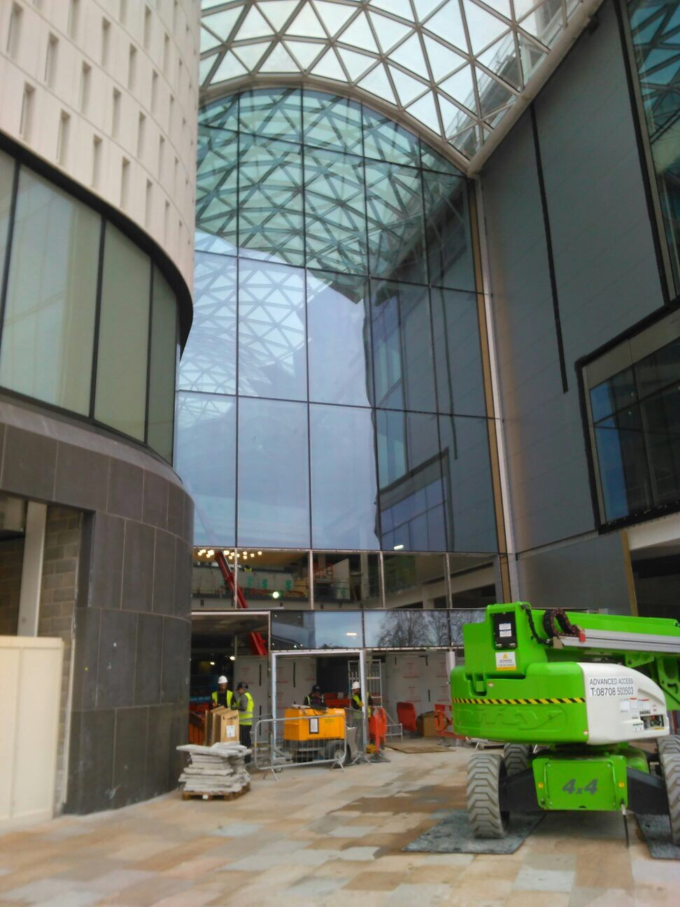Roof recoating at Westfield Shopping Centre