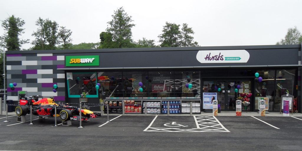 Shop front at MRH Mildenhall petrol station
