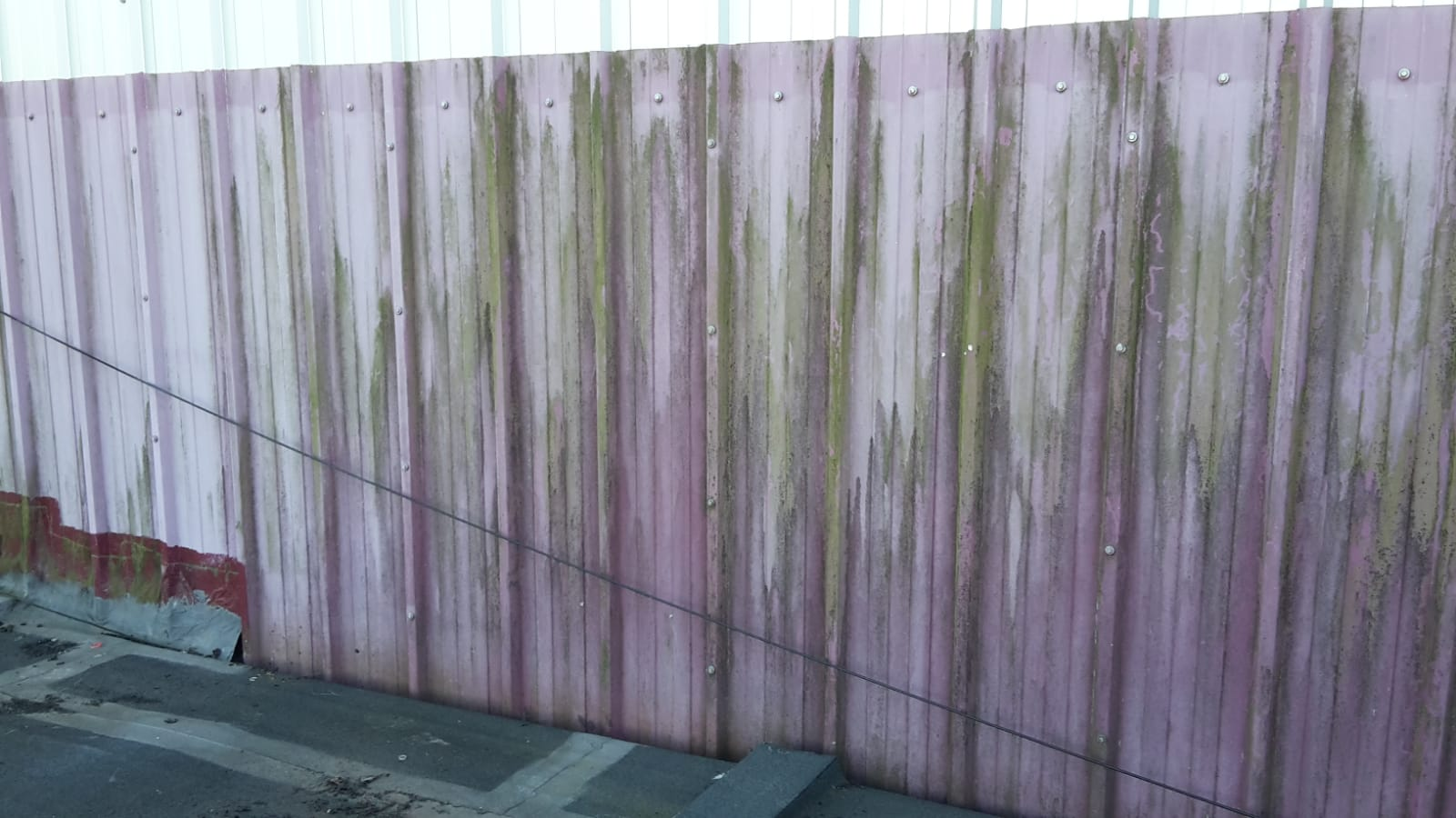 Dirty cladding panels