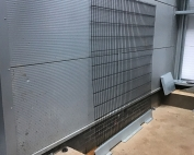 dented cladding panels