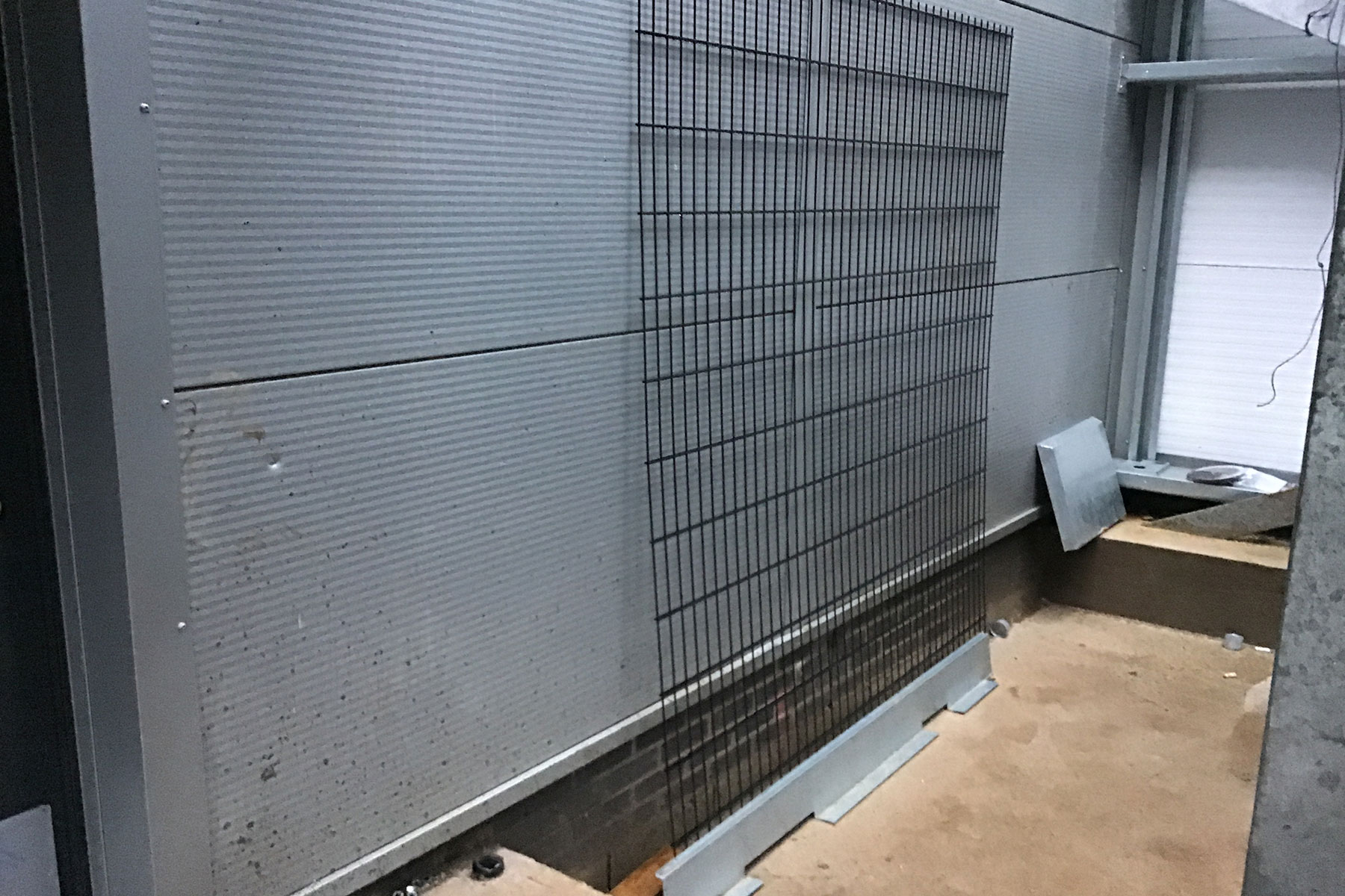 dented cladding panels